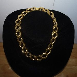 Napier Chunky Gold Tone Chain Link Necklace